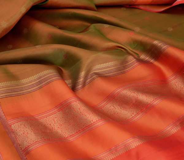 Elegant Kanjivaram threadwork butta weavemaya Bangalore India Maya mehendi green 4502107 5