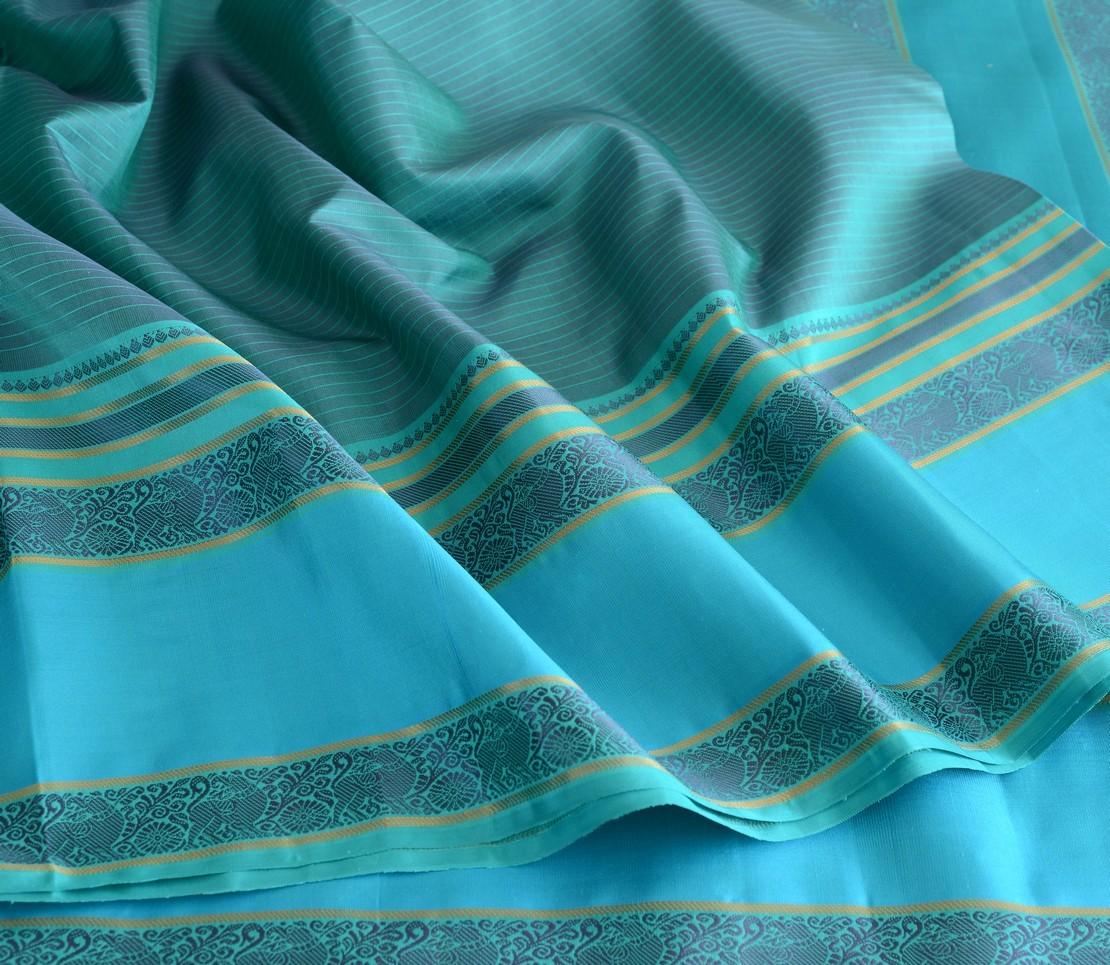 Elegant Kanjivaram threadwork jacquard blouse weavemaya Bangalore India Maya blue 4502112 4
