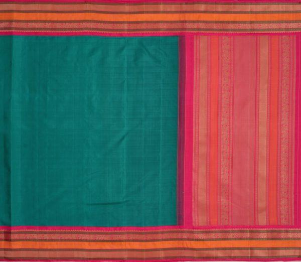 Traditional korvai border Kanjivaram silk saree weavemaya Bangalore India Maya Ramar green 4502141 1