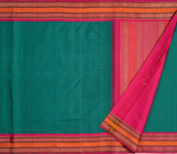 Traditional korvai border Kanjivaram silk saree weavemaya Bangalore India Maya Ramar green 4502141 2